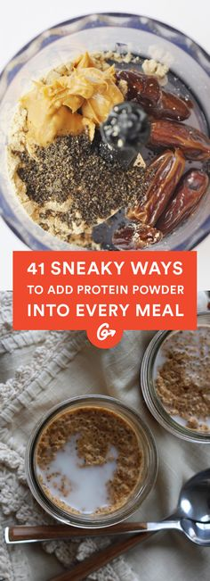 41 Sneaky Ways to Add Protein Powder Into Every Meal #healthy #protein #recipes http://greatist.com/eat/protein-powder-recipes