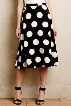 Deco Dot Midi Skirt - anthropologie.com