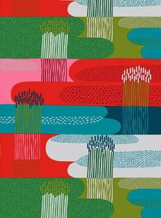 Marimekko fabrics - Buy online from Finnish Design Shop. Discover Unikko and other Marimekko fabrics for a modern home! Motifs Textiles, Textile Patterns, Textile Prints, Lino Prints, Block Prints, Design Textile, Fabric Design, Print Design, Surface Pattern Design
