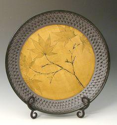Japanese Maple Plate by Suzanne Crane (Ceramic Plate - STUDIO SALE) | Artful Home