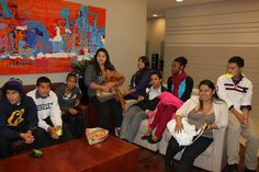 Scholars hanging out in the lounge