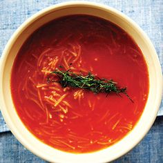 Though Mexico isn't particularly known for it's noodles, fideo is similar to vermicelli and is often cooked in a rich tomato broth for Sopa de Fideo. From @Saveur Magazine, found at www.edamam.com.