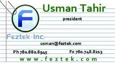 Business Card Design for Feztek Inc