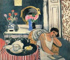 """Breakfast,"" by Henri Matisse © Succession H. Matisse, Paris / Artists Rights Society (ARS),. Henri Matisse, Matisse Kunst, Matisse Art, Raoul Dufy, Matisse Pinturas, Matisse Paintings, Art Sur Toile, Reading Art, Woman Reading"