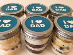 Cupcakes In A Jar-Mason Jars-I Heart Dad-Father's Day Gifts-Happy Father's Day-Gifts for Grandpop