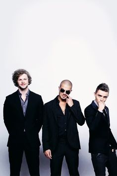 Jay McGuiness, Max George & Nathan Sykes from The Wanted
