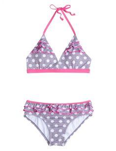 Heather Dot Bikini Swimsuit | Girls Swimsuits Swimwear | Shop Justice