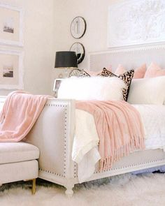 The Very Best Cheap Romantic Bedroom Ideas Latest simple romantic bedroom ideas for 2019 Romantic Master Bedroom, Glam Bedroom, Stylish Bedroom, Shabby Chic Bedrooms, Home Decor Bedroom, Ikea Bedroom, Bedroom Black, Bedroom Green, Girl Bedrooms
