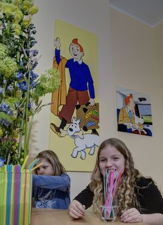 Freetime fun at Germany For Kids. Our younger guest quench their thirst between activities in our café #drinkingstraws #germanyforkids #thirsty