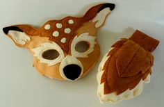Meadow the  White Tail Deer Pretend Play Mask and Tail Set Fawn. $32.00, via Etsy.