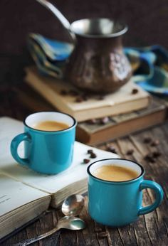 Cup of coffee on wooden table. by Anjelika Gretskaia on 500px