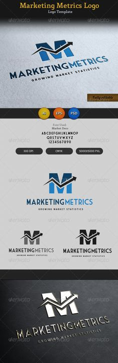 Marketing Metrics Logo 2 — Photoshop PSD #invest #marketing • Available here → https://graphicriver.net/item/marketing-metrics-logo-2/3267236?ref=pxcr