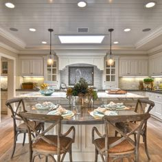 Kitchen Island With Table Design, Pictures, Remodel, Decor and Ideas - page 3  Great details