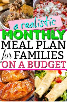 Budget meal planning 444730531955616824 - January 2020 Monthly Meal Plan On A Budget (Family of – Mommy Can't Afford That Source by bcshelley Monthly Meal Planning, Family Meal Planning, Budget Meal Planning, Monthly Plan, Healthy Meal Planning, Family Food Budget, Family Meal Ideas Picky Eaters, Meal Planning Recipes, Food On A Budget