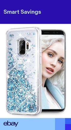 d774331d Samsung Galaxy S9 Case Flowing Liquid Glitter Bumper Shockproof Case Cover  Blue