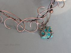 Copper Necklace with Turquoise Imperial by CopperStreetStudios