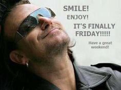 Bono smiling 'cause it's Friday! Great Bands, Cool Bands, U2 Lyrics, U2 Songs, Friday Music, Paul Hewson, Larry Mullen Jr, Bono U2, Best Rock Bands