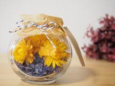 【黄色いお花とラベンダー】信州産ドライフラワー|atelier milooc