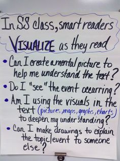 """Visualizing"" Anchor Chart (Social Studies)"