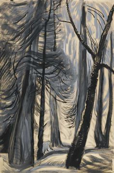a faithful attempt: Emily Carr Style Forest Painting Tom Thomson, Canadian Painters, Canadian Artists, Impressionist Paintings, Landscape Paintings, Prado, Emily Carr Paintings, Group Of Seven Artists, Women Artist