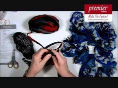 ▶ Make a Knit Twizzle Scarf - YouTube (knit)