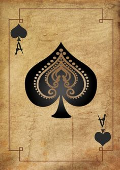 Print – Vintage Playing Card Ace of Spades (Picture Poster Texas Poker Art) Playing Cards Art, Vintage Playing Cards, Texas Poker, Ace Of Spades, Card Tattoo, Poster Designs, Cookies Et Biscuits, Gift Boxes, History