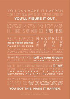 words by Danielle Laporte. design by strikingtruths.com.