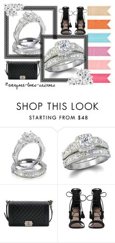 Stunning Wedding Engagement Ring Set https://www.etsy.com/shop/SenseofStyle1featuring Zimmermann and Chanel