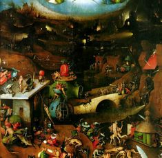 The last Judgement, Center Panel, Image via https://en.wikipedia.org/wiki/List_of_paintings_by_Hieronymus_Bosch