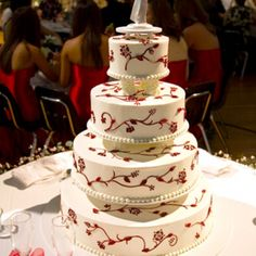 Four-tier wedding cake