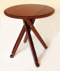 The Windmill, Four legs Drop Leaf Bistro Table, Recycled Oak Wine Barrel