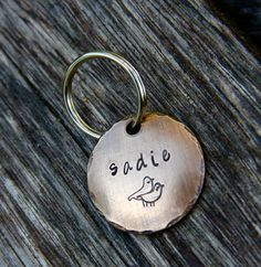 Customize Your Own Pet ID Tag in 1'' Bronze  You by theCopperPoppy, $13.00