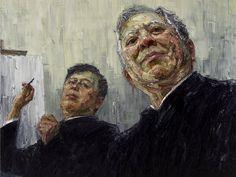 John Yu with artist (archibald 2012)- Jun Chen