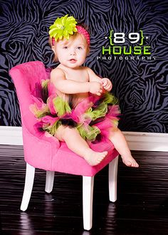 love almost everything about this photo- chair, background, tutu, headband.