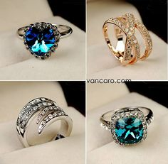 Vancaro rings. Look at the colours, amazing!