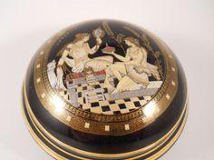 Rare Vintage Handmade Greek Goddess Podith Panenis Trinket Box 24K Gold by MissPattisAttic, $18.00