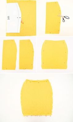 I don't sew very well, but I love pencil skirts so maybe I'll try it someday soon. | Sew Your Own Pencil Skirt in Less Than 30 Minutes via Brit + Co