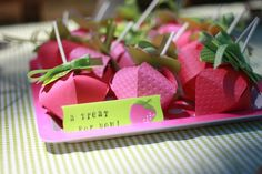Future party idea... strawberry theme!