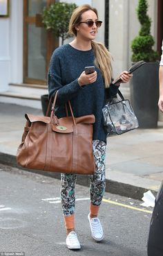 Looking for a hero? Charlotte Crosby wore vibrantly pattered Captain America leggings as s...