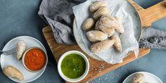 Kanaripoteter med rød og grønn mojosaus | Coop Mega -
