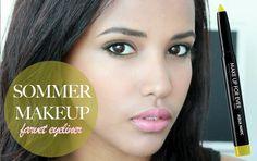 Sommermakeup med farvet eyeliner!