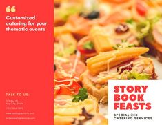 Red and Yellow Catering Trifold Brochure