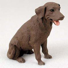 Dog Figurine Labrador Retriever Chocolate Standard