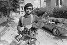 A Christian militia fighter with a FAL during the Lebanon Civil War (1975-1990)