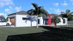 3 Bedroom House Plan - My Building Plans South Africa Split Level House Plans, Single Storey House Plans, Square House Plans, Metal House Plans, Architect Fees, House Plans South Africa, Construction Drawings, Bedroom House Plans, Building Plans
