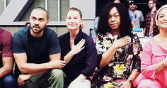 The cast of Grey's Anatomy and showrunner Shonda Rhimes protested against racial injustice at the 300th episode party. (PHOTOS)