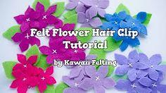 how to make felt flowers - YouTube