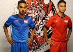 Singapore 2014/16 Nike Home and Away Kits