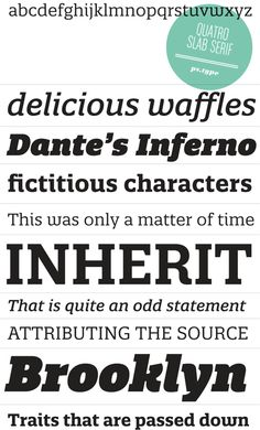 quatro slab serif type family now available from ps.type #fonts #typefaces
