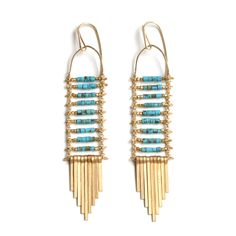 Image of Turquoise Ladder Earrings